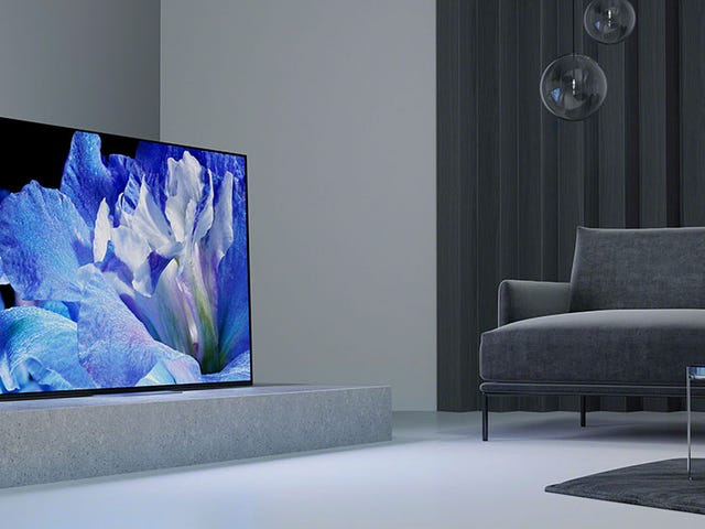 I Think Sony Realized Last Year's Cool OLED TVs Looked Too Weird