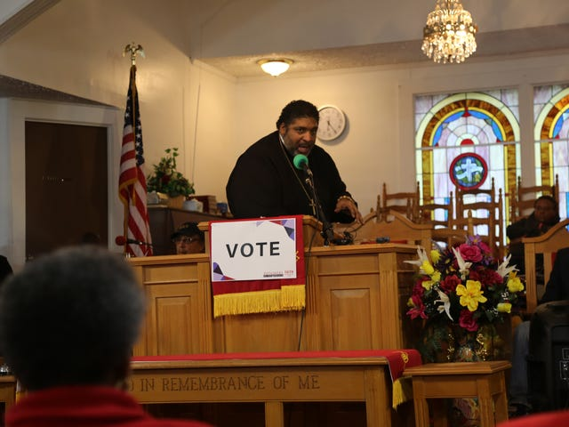 In Rural Georgia, Rev. William Barber Excoriates Trump and His Supporters for Using Pseudo Christianity to Support Racism