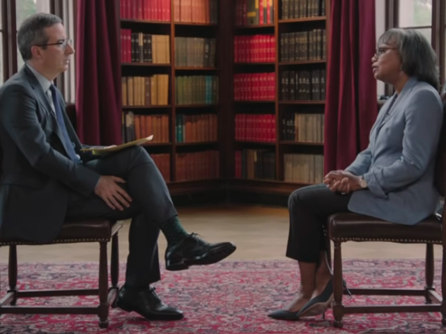 John Oliver takes on sexual harassment with the help of all-time expert Anita Hill