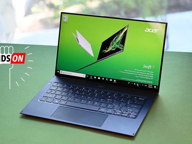 Acer's New Swift 7 is zo dun dat het niet echt lijkt