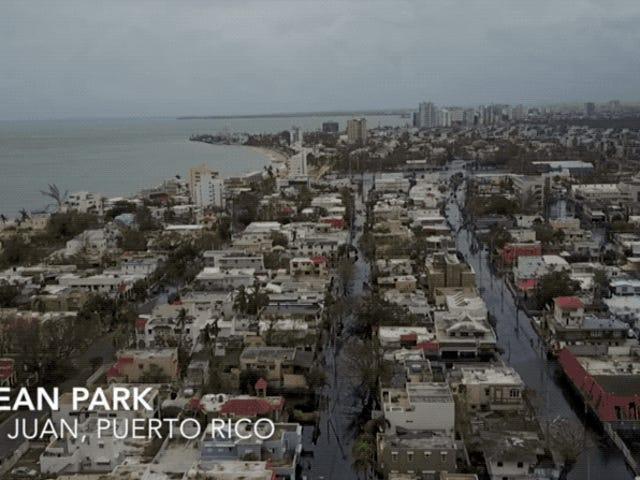 La devastación y ruinas que dejó el paso del huracán María en Puerto Rico, a vista de dron