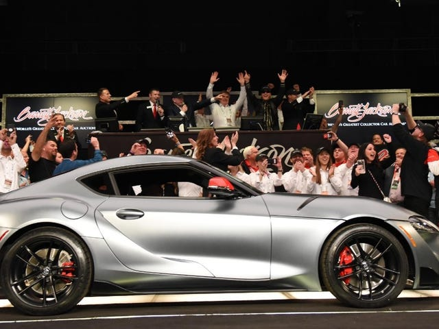 The First 2020 Toyota Supra Just Sold For $2.1 Million, and Everybody is Freaking Out