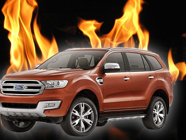 Ford Everest SUV arde durante la prueba de un periodista;  Aún no se han encontrado problemas repetibles