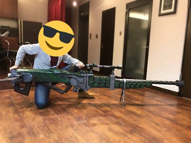 La réplique réelle du pistolet <i>Monster Hunter</i> est très longue