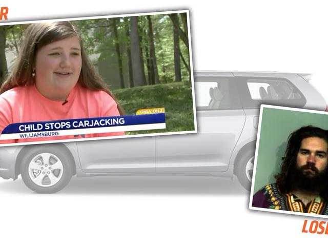 彼女が車を知っているのでヒーロー12歳はカージャッカーを止める