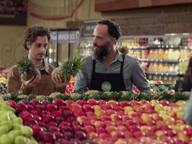 Η νέα καμπάνια διαφημίσεων για ολόκληρα τρόφιμα δεν δείχνει ότι οποιοσδήποτε εργαζόμενος κλαίνε ανεξέλεγκτα