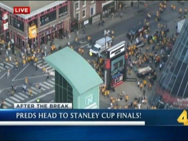 Nashville TV Station Iniisip Ang mga Predators Sigurado Sa Ang Stanley Cup Finals