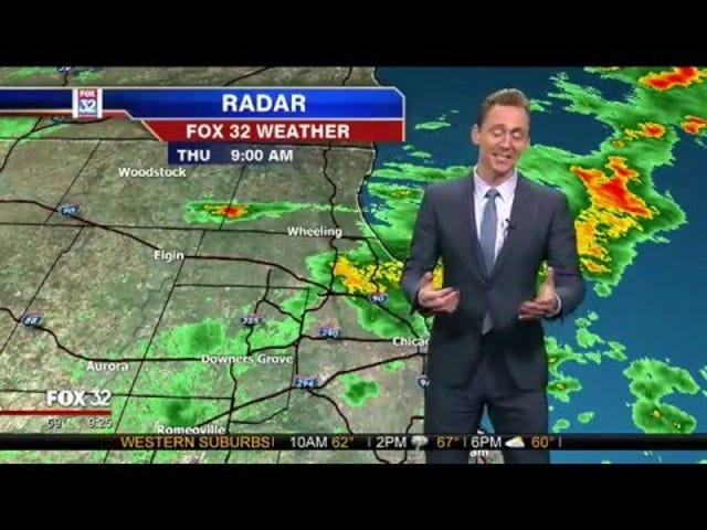 Loki Drops in to Local Weather Update To Blame Thor For Tornadoes