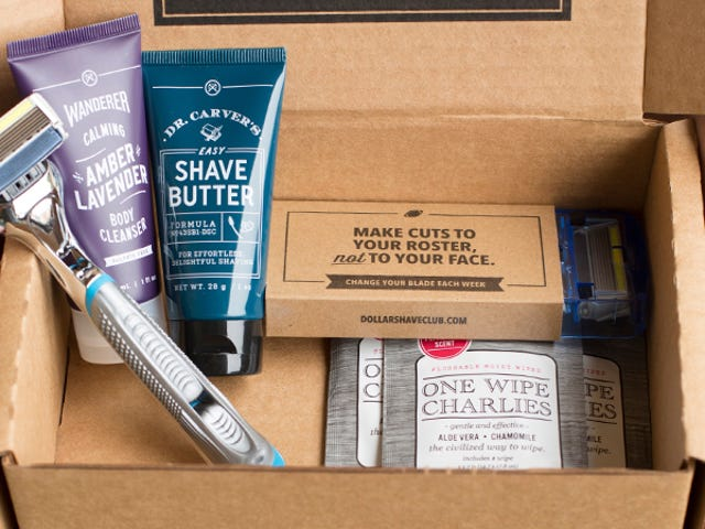 Get Dollar Shave Club's Starter Set: Razors, Shave Butter, Body Cleanser, & Wipes, Just $5