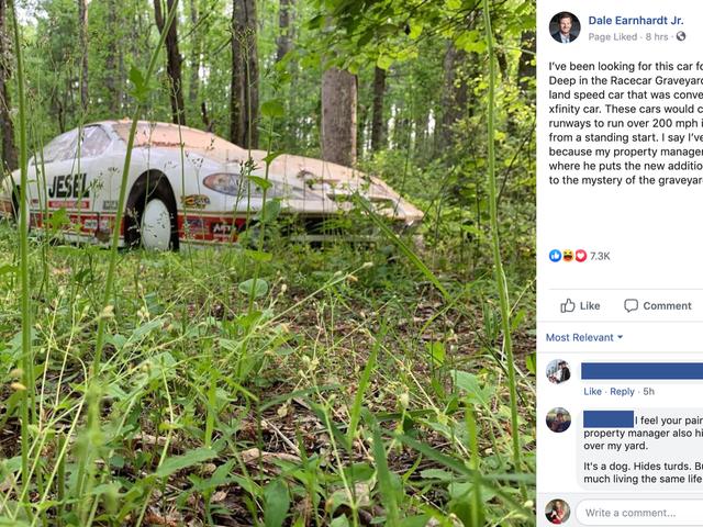 Nghĩa trang xe hơi của Dale Earnhardt Jr. Giống như trò chơi nhặt rác cá nhân của chính mình