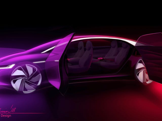The Volkswagen I.D. Vizzion Concept Dumps The Steering Wheel Entirely