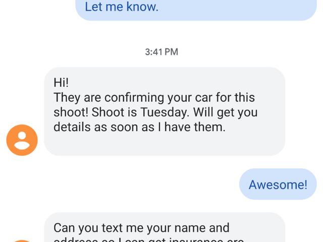 Nah, mobil saya akan menjadi iklan itu
