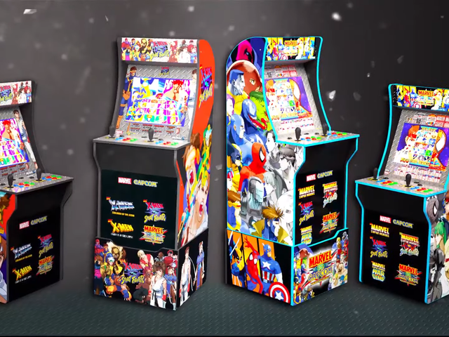 Arcade1Up Announces Ms. Pac-Man, Marvel vs. Capcom Cabinets