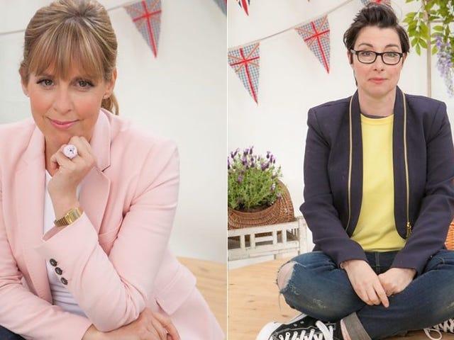 <i>Great British Bake Off</i> χάνει τους ανόητους, υπέροχους οικοδεσπότες στην έξοδο του BBC