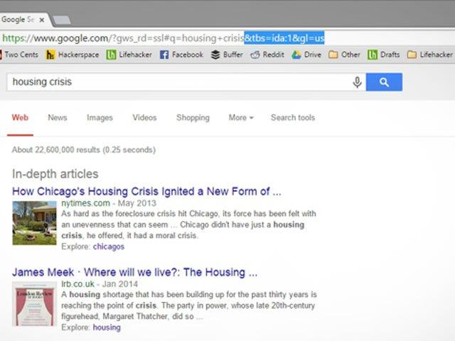 ค้นหาบทความเชิงลึกใน Google ด้วยเคล็ดลับ URL