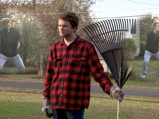 Das Neueste von This Is Branchburgs Brendan O'Hare und Cory Snearowski geht gegen Laubharken und Fußmattenraub vor