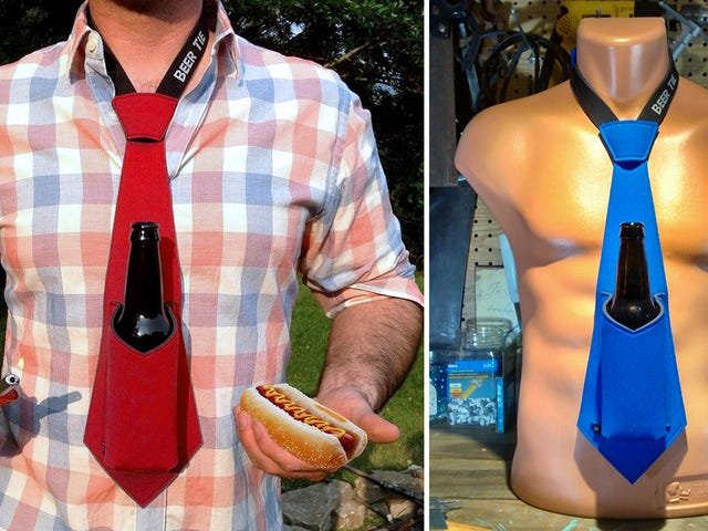 You'll Actually Want to Dress Up For Parties With a Beer Koozie Tie