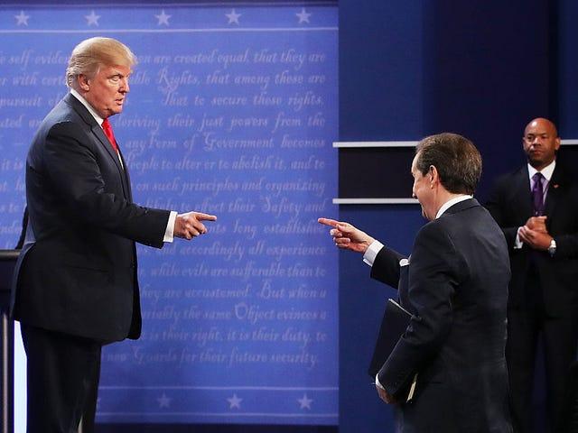 Trump uhkaa Amerikkaa yhdellä vähemmällä televisiossa käytävällä keskustelulla DNC: n jälkeen