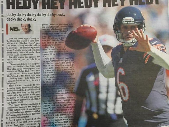 """Sun-Times' Bears Headline: """"Hedy Hey Hedy Hey Hedy"""""""