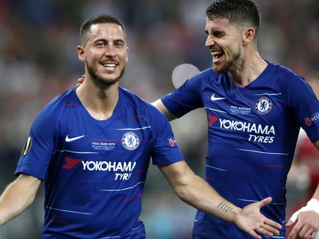Eden Hazard johtaa Chelsean arsenaalin pilaantumista Lopsided Europa League finaaliin