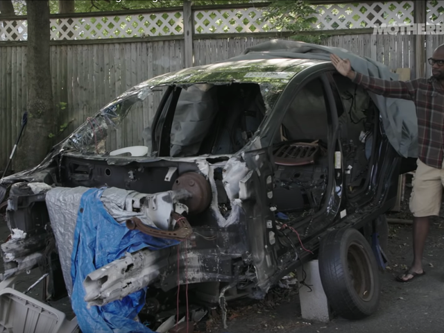 The Guy Who Salvages Ruined Teslas and Puts Them Back on the Road
