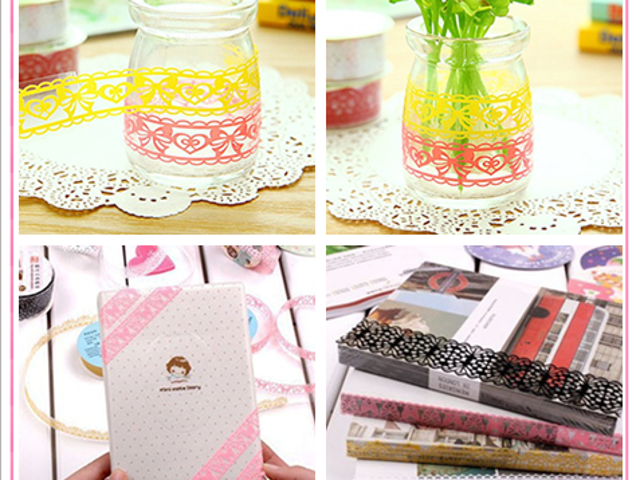 9 RollLace Sticky Adhesive Washi Tape for DIY Craft $7.99