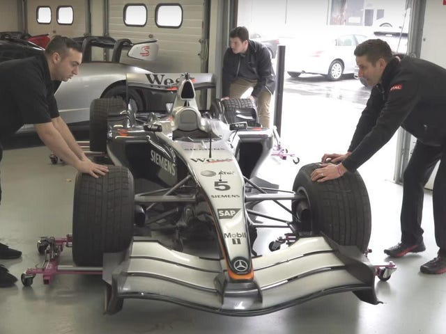 Detailing a Formula One Car Sounds Terrifying