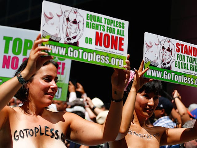 Women Bare Bosoms Across the United States in Honor Of GoTopless Day