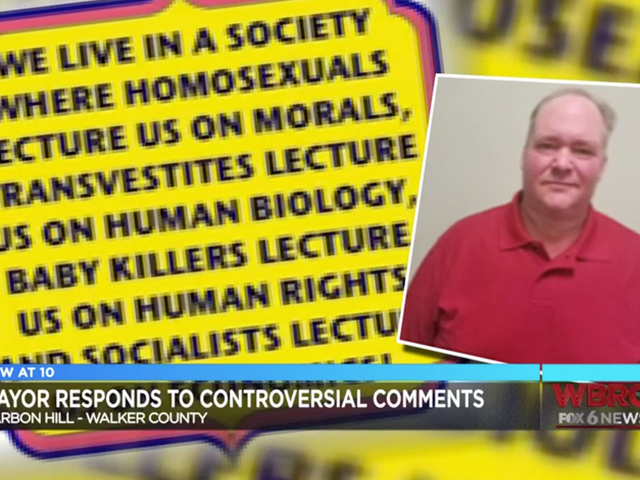 Just in Time for Pride, Small-Town Alabama Mayor Writes He Wants to 'Kill the Problem' of 'Homosexuals'