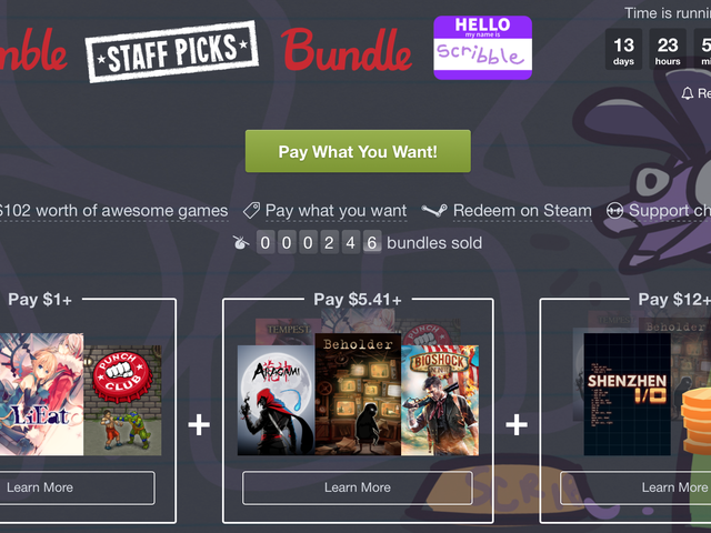 Make Your Steam Backlog a Little Worse With Humble's Staff Picks Bundle