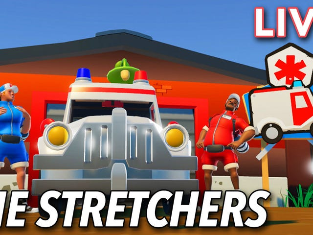 I'm playing The Stretchers LIVE with Stephen on Kotaku's Twitch channel right now!