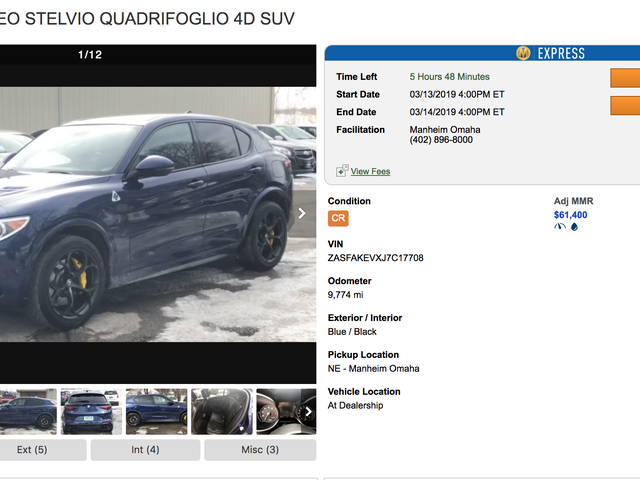 This is a $50-$55k wholesale car
