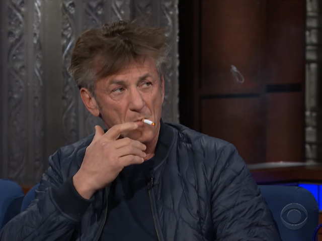Sean Penn Is Promoting His New Novel by Smoking, Complaining About Netflix, and Trash-Talking Robin Wright