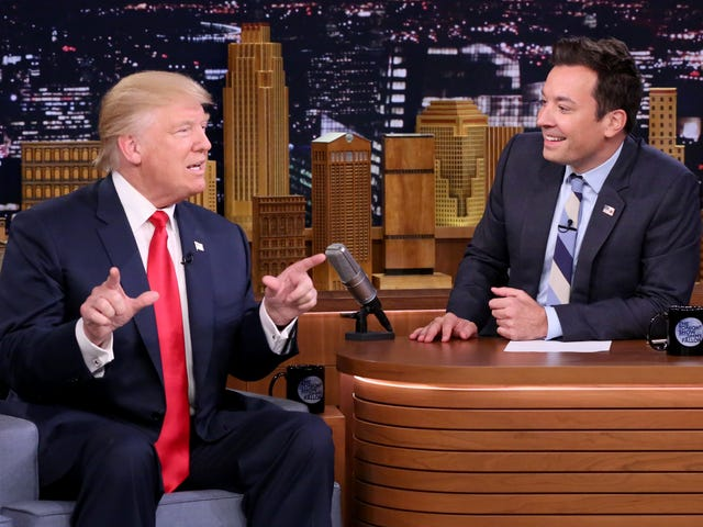 Jimmy Fallon regrets tousling Trump's hair on The Tonight Show
