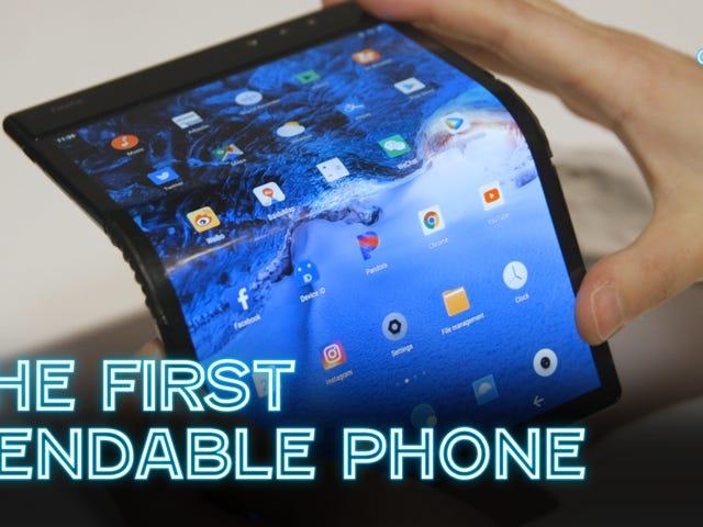 De eerste buigzame telefoon is een opwindend stukje rommel