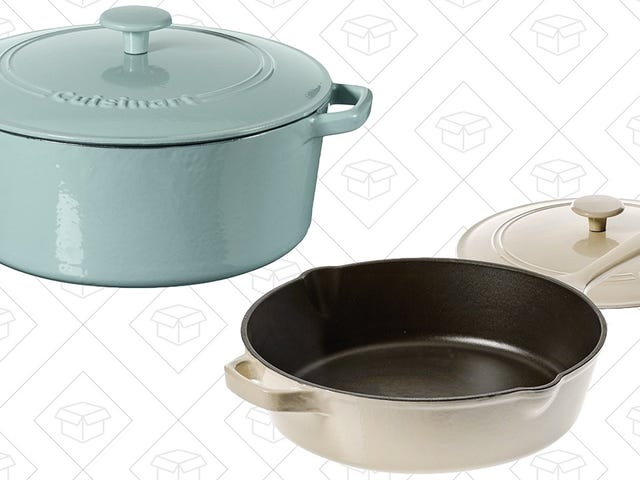 Amazon's Discounting Cuisinart's Essential Cast Iron Cookware For One Day Only