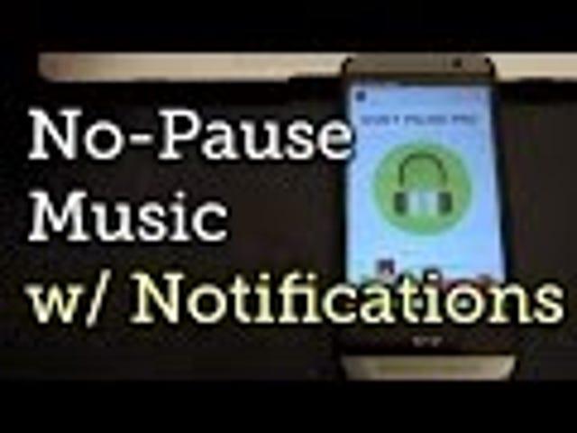 Ikke pause!  Stopper meldinger fra å forstyrre musikken din