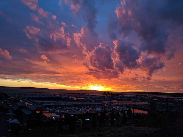Foton från kvällens solnedgång