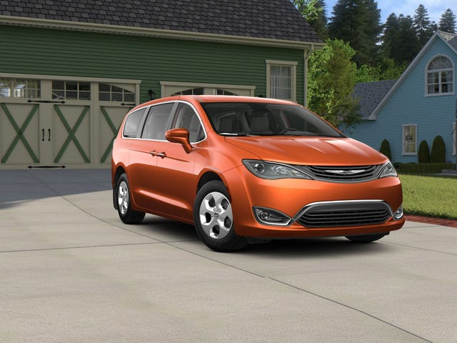 PSA: Apparently orange hybrid minivans are a thing that exists now.