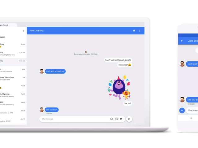 Συζήτηση σχετικά με την εφαρμογή της Google Android από το Android με το WhatsApp