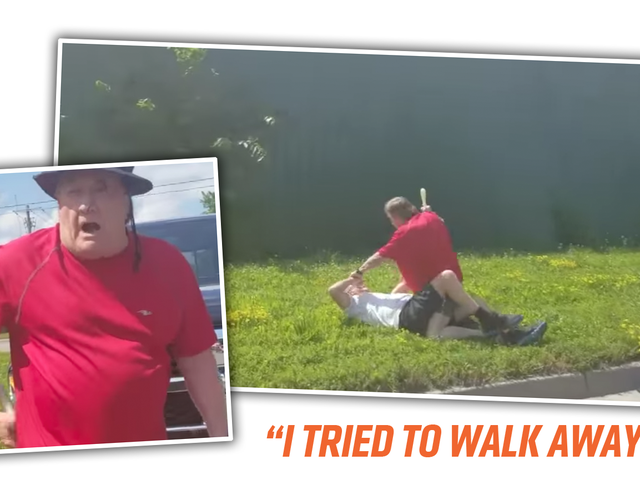 Disturbing Video Shows Pickup Truck Driver Brutally Beating Elderly Cyclist With Small Club