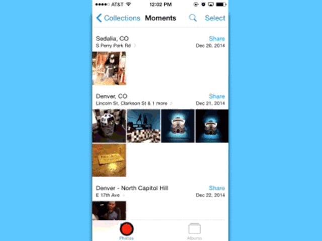 Salta del concerto al termine de tus fotos in iOS con solo un toque
