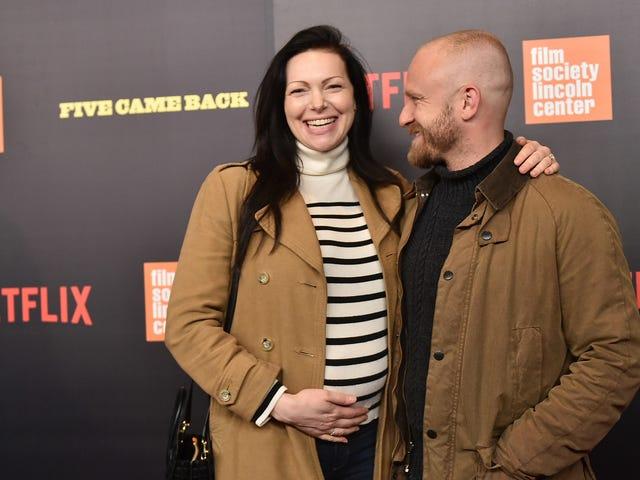 Jag visste inte Laura Prepon och Ben Foster väntade en baby, men nu har de en