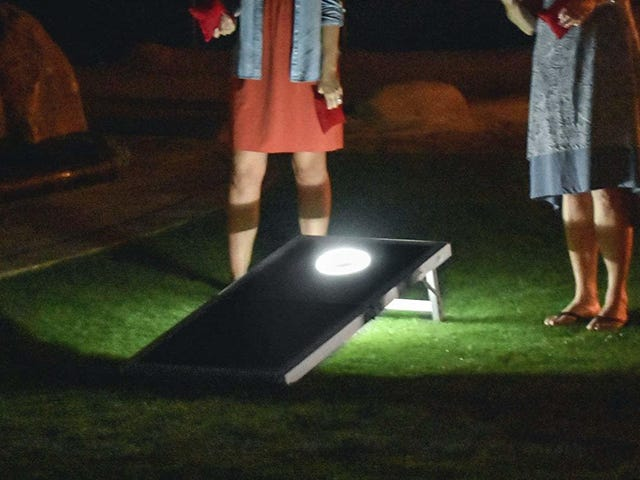This Discounted Cornhole Set Turns the Lawn Game Into a Nighttime Activity