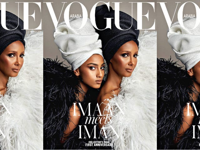 Wrap Your Head Around This: Imaan and Iman Cover Vogue Arabia's Anniversary Issue