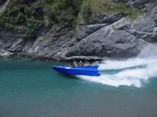 This jet-powered boat is going impossibly fast