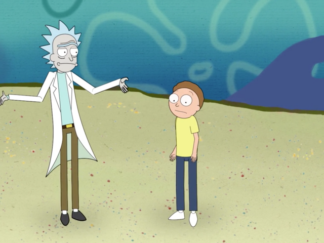 Rick i Morty przeprowadzają imponującą podróż po SpongeBob Squarepants