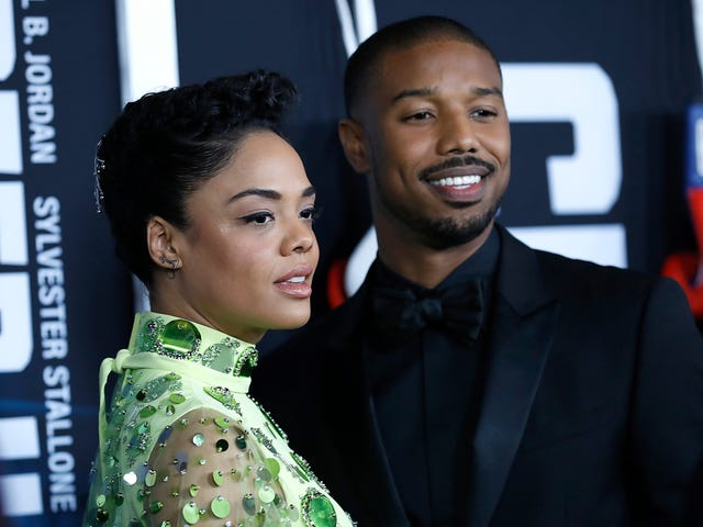 Knockouts: Michael B. Jordan, Tessa Thompson og More Kill It på Creed II Premiere