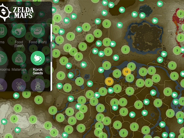 Zelda Data Miners Mapped Out the Hundreds of Items and Locations in Breath of the Wild [Update]