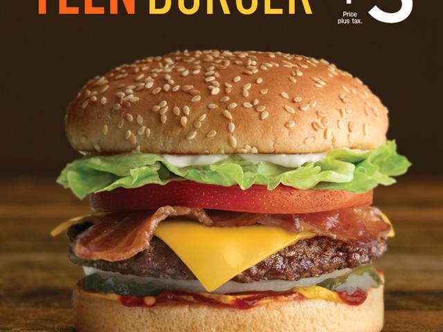 A&W's teen burger...